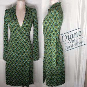 Diane Von Furstenberg Vintage Jeane Wrap Dress Sz2